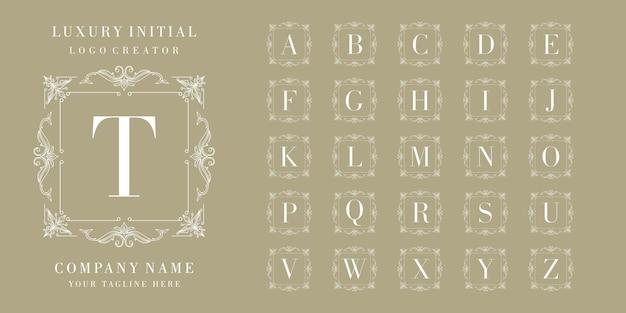 Erstes luxus-abzeichen-logo