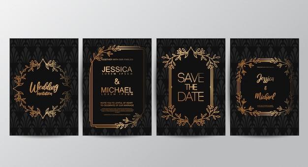 Erstklassige luxus-hochzeitseinladungskarten