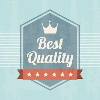 Erstklassige qualität über blauer hintergrundvektorillustration