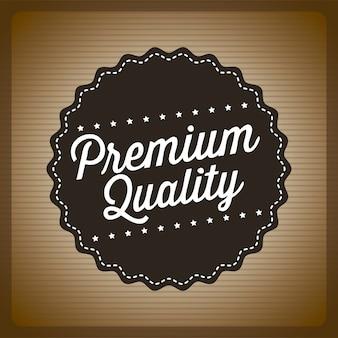 Erstklassige qualität über brauner hintergrundvektorillustration