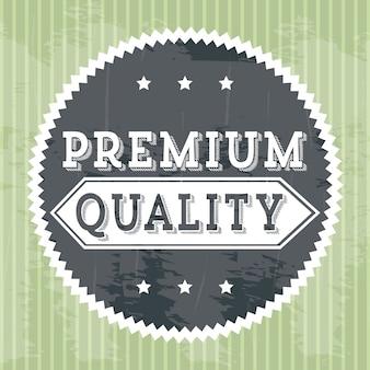 Erstklassige qualität über grüner hintergrundvektorillustration