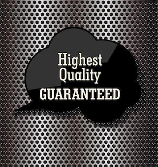 Erstklassige qualitätsblasenrede auf metallhintergrund