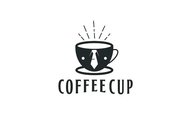 Erstklassiges kaffee- und krawattendesign