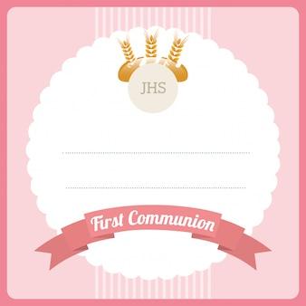 Erstkommunion kartenentwurf