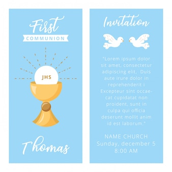 Erstkommunionskarte