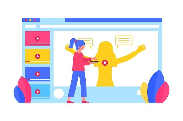 Erwachsene lernen und nehmen an online-tutorials teil