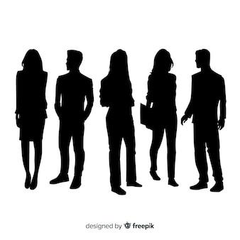 Erwachsene leute silhouettieren hintergrund