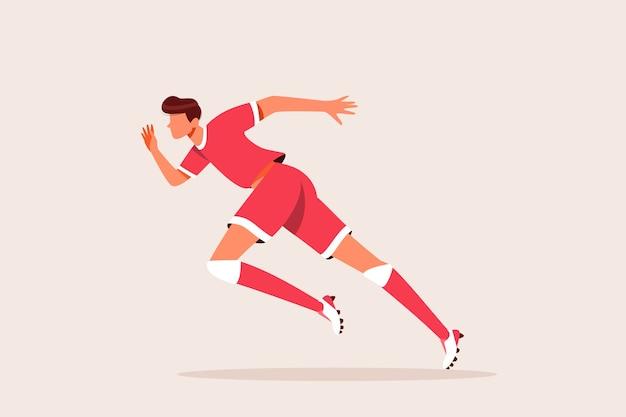 Erwachsener mann im sprint der sportbekleidung