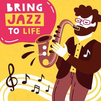Erwecke jazz zum leben