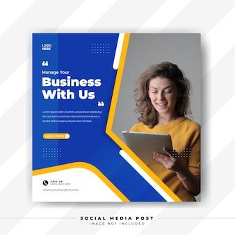 Erweitern sie ihr geschäft mit einer social media-postvorlage für eine agentur für digitales marketing