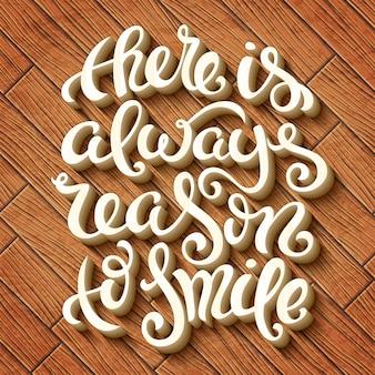 Es gibt immer grund zum lächeln