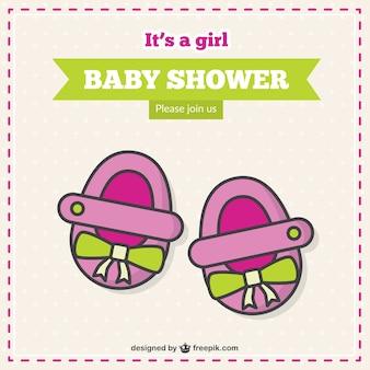 Es ist ein mädchen, baby-dusche-karte
