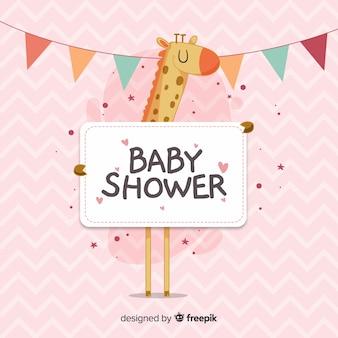 Es ist eine mädchen-baby-dusche-vorlage