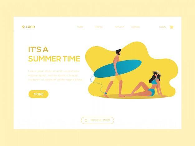 Es ist eine sommerzeit-webillustration