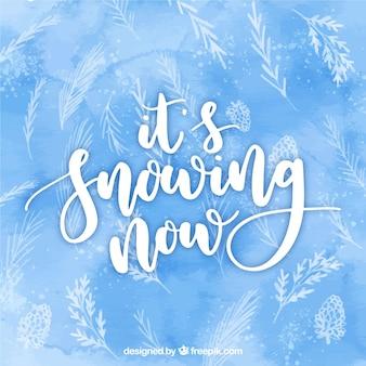 Es schneit jetzt