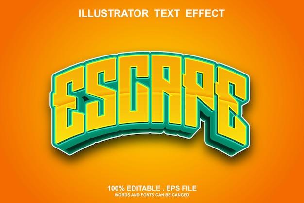Escape-texteffekt editierbar