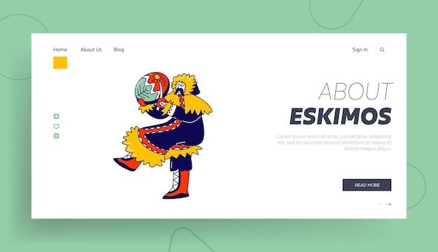 Eskimo shaman landing page vorlage.