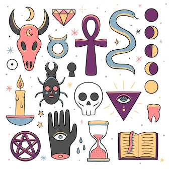 Esoterische elemente mystischer kreaturen