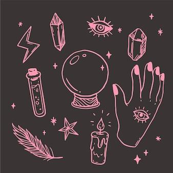 Esoterische mystische elemente