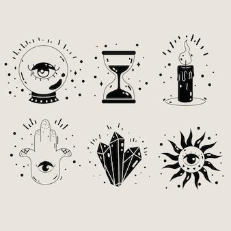 Esoterisches elementpaket-design