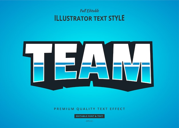 Esport blue 3d text style effekt