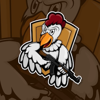 Esport gamer logo hühnerarmee