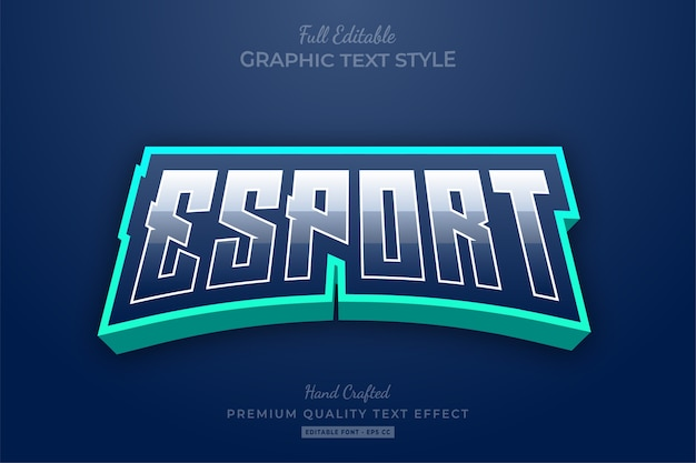 Esport gradient editable text style effect premium