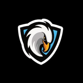 Esport-logo des adler-maskottchens