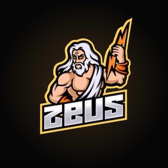 Esport-logo des zeus-maskottchens
