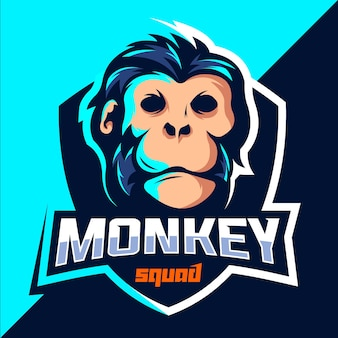 Esport logo-design des affenteams