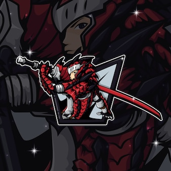 Esport logo gamer monster hunter