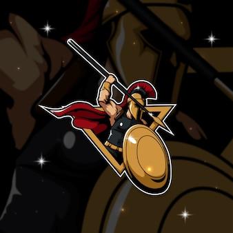 Esport logo gamer sparta