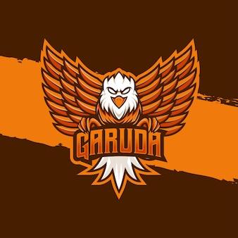Esport-logo garuda-zeichensymbol