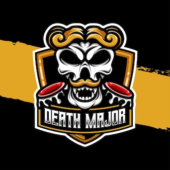 Esport logo illustration schädel tod hauptfigur symbol