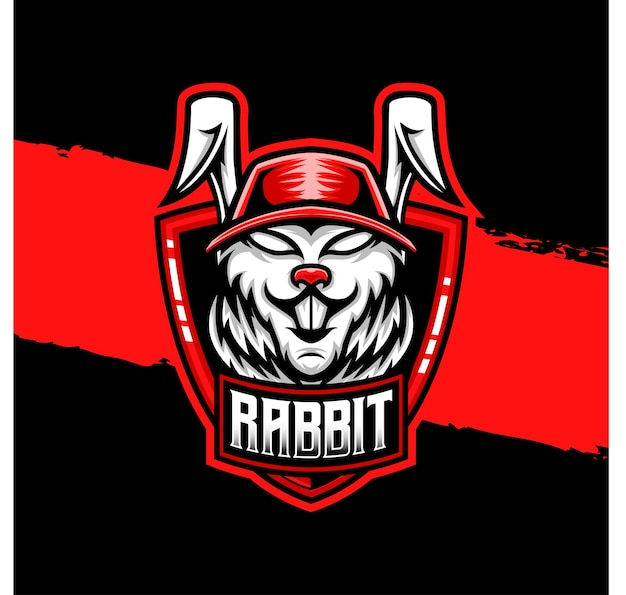 Esport-logo kaninchen charaktersymbol