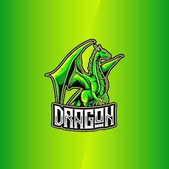 Esport logo mit drachen charakter symbol
