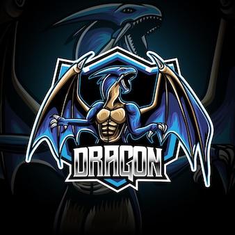 Esport-logo mit drachen