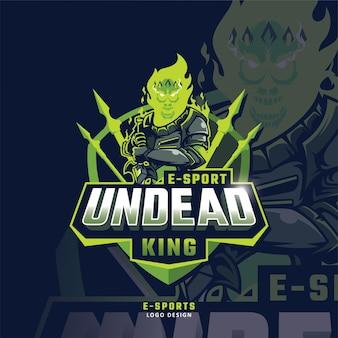 Esport-maskottchen-logo mit totenkopf