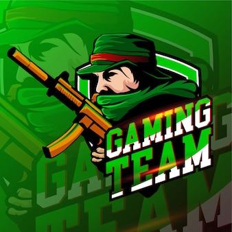Esport shot gaming logo abzeichen