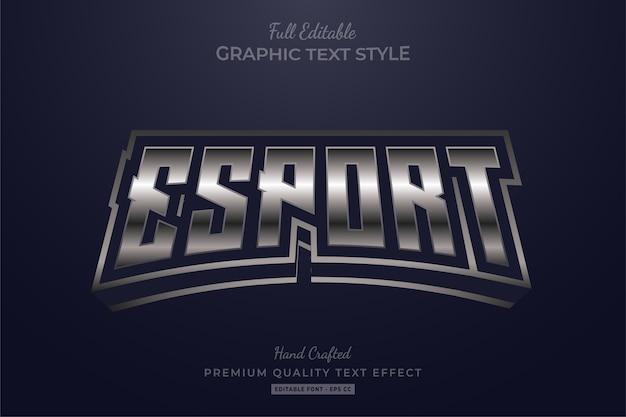 Esport silver editable text style effekt premium