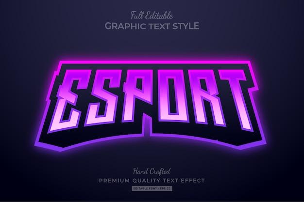Esport team gradient purple bearbeitbarer texteffekt