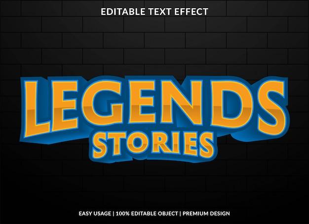 Esport team logo text effekt vorlage stil