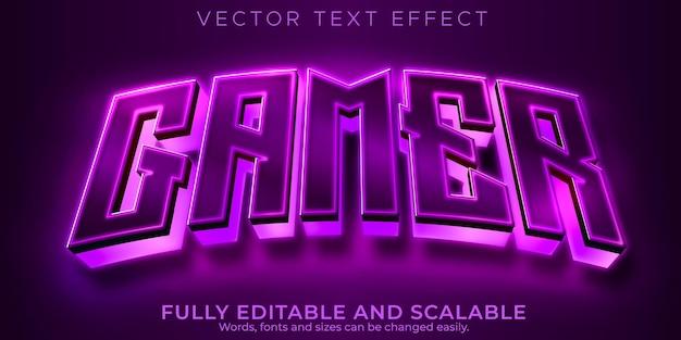 Esport-texteffekt, editierbarer gamer und neon-textstil