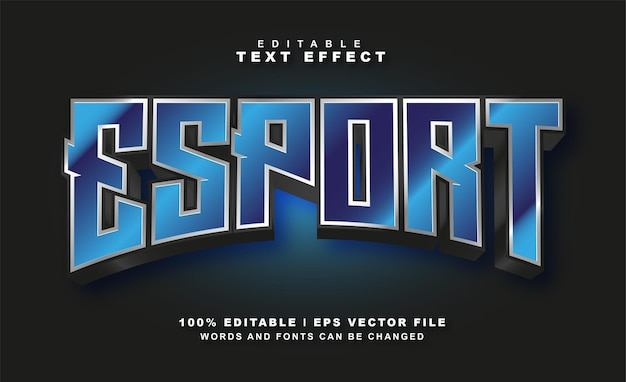 Esport-texteffekt-freier eps-vektor