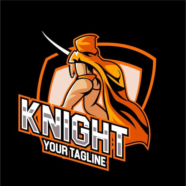 Esports gaming ritter mädchen logo team