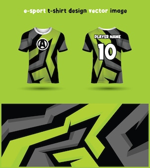Esports gaming t-shirt trikot-vorlage