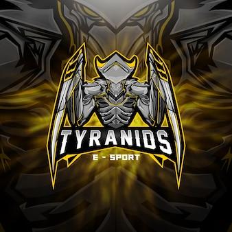 Esports-logo ausländisches tyraniden-team