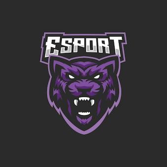 Esports-logo des schwarzen panthers