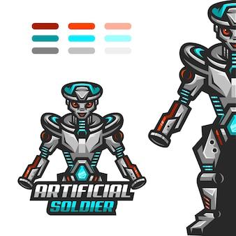Esports-logo für robotersoldaten