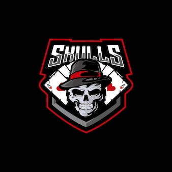 Esports-logo mit totenkopf
